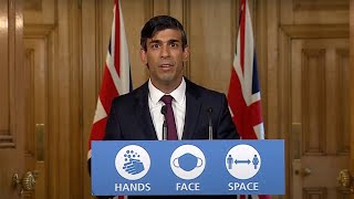 video: Politics latest news: Rishi Sunak announces salary top-up plan to replace furlough - watch press conference live
