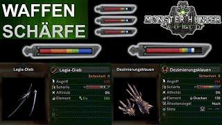 Monster Hunter World: Waffen-Schärfe (Deutsch/German)