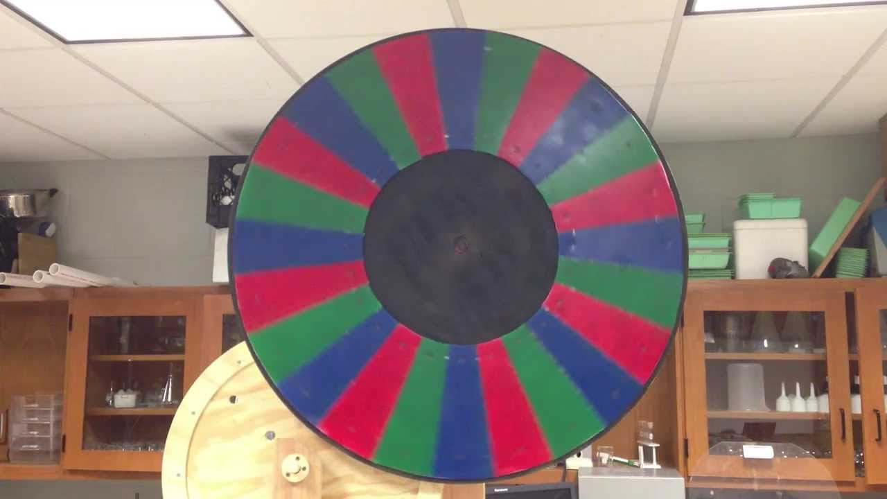 Large Color Wheel Of Red Green Blue Spins To White Youtube