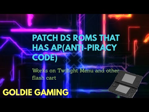 How To Patch DS/NDS ROMS WITH AP(ANTI-PIRACY) CODE  | GOLDIE GAMING