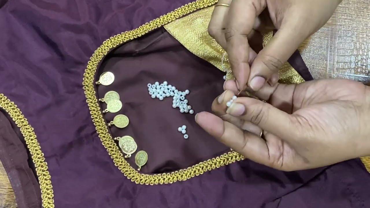 Silk Cotton Blouse Design Cutting &  Stitching