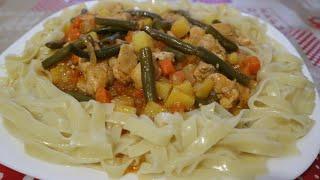Вкусный ужин на скорую руку из простых продуктов