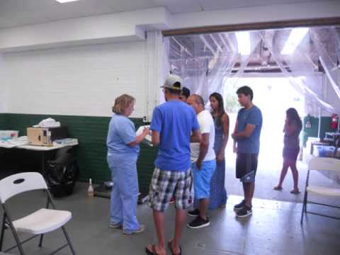 Veterinarians and other volunteers spayed and neutered more than 100 pets in a clinic at the Yonkers PAL.