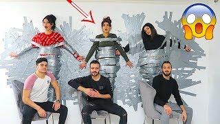 تحدي اللصق على الحائط | نارين،سيدرا و شيرين...