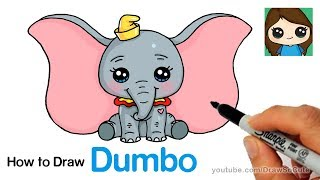 How to Draw Dumbo Easy and Cute