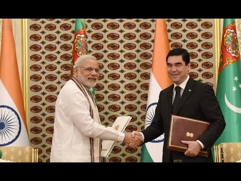 Narendra Modi's Address During The Joint Press Statement In Turkmenistan !!!