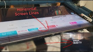 SAMSUNG QE65 QLED TV Horizontal screen lines repair successfully