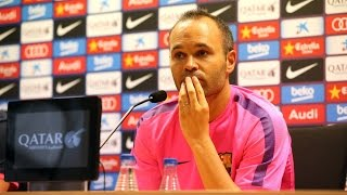 #ElClásico - Andrés Iniesta Press Conference