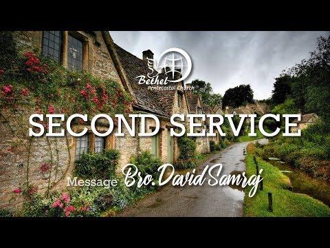 Download 21st Oct 2018   Sunday Second  Service   Bro. David Samraj