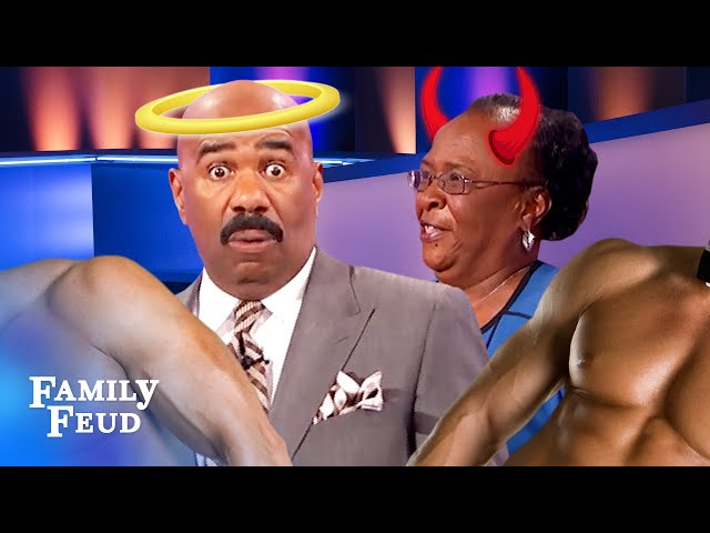 Steve Harvey did not expect THIS answer from a missionary! | Family Feud