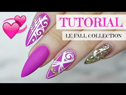TUTORIAL | POINTY MATTE NAILS USING LIGHT ELEGANCE FALL COLLECTION 2017