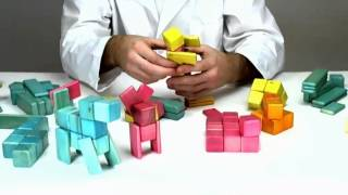 Building Winnie The Pooh And His Friends Out Of Wooden Building Blocks From Tegu