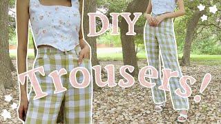 DIY Trousers | Sewing Gingham Pants | Step By Step Tutorial