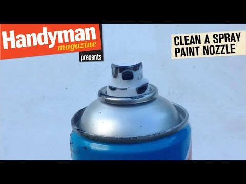 How To Clean A Spray Paint Nozzle You