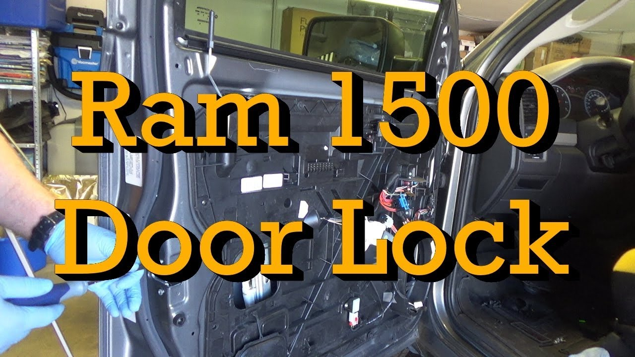small resolution of 2012 ram 1500 door lock actuator latch diagnosis and replacement 2009 2018 similar