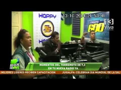 Imágenes del sismo de 7.3 en Viva Nicaragua y Tu Nueva Radio Ya