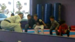 Social Camp for Autism, karate event..stretching