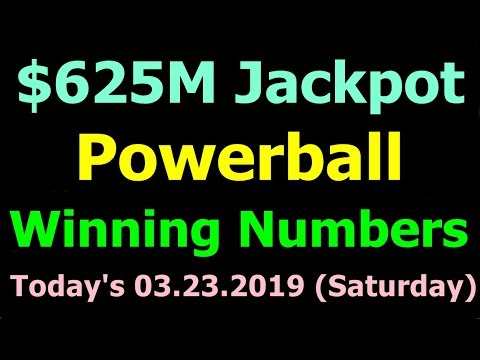 Today Powerball Winning Numbers 23 March 2019 ($625M Jackpot). Powerball drawing tonight 3/23/2019