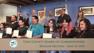Taos County Board Of Commissioners, Regular Meeting - June 14, 2016