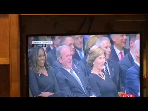 Presidents Bush And Obama Speak At John McCain Funeral Part One