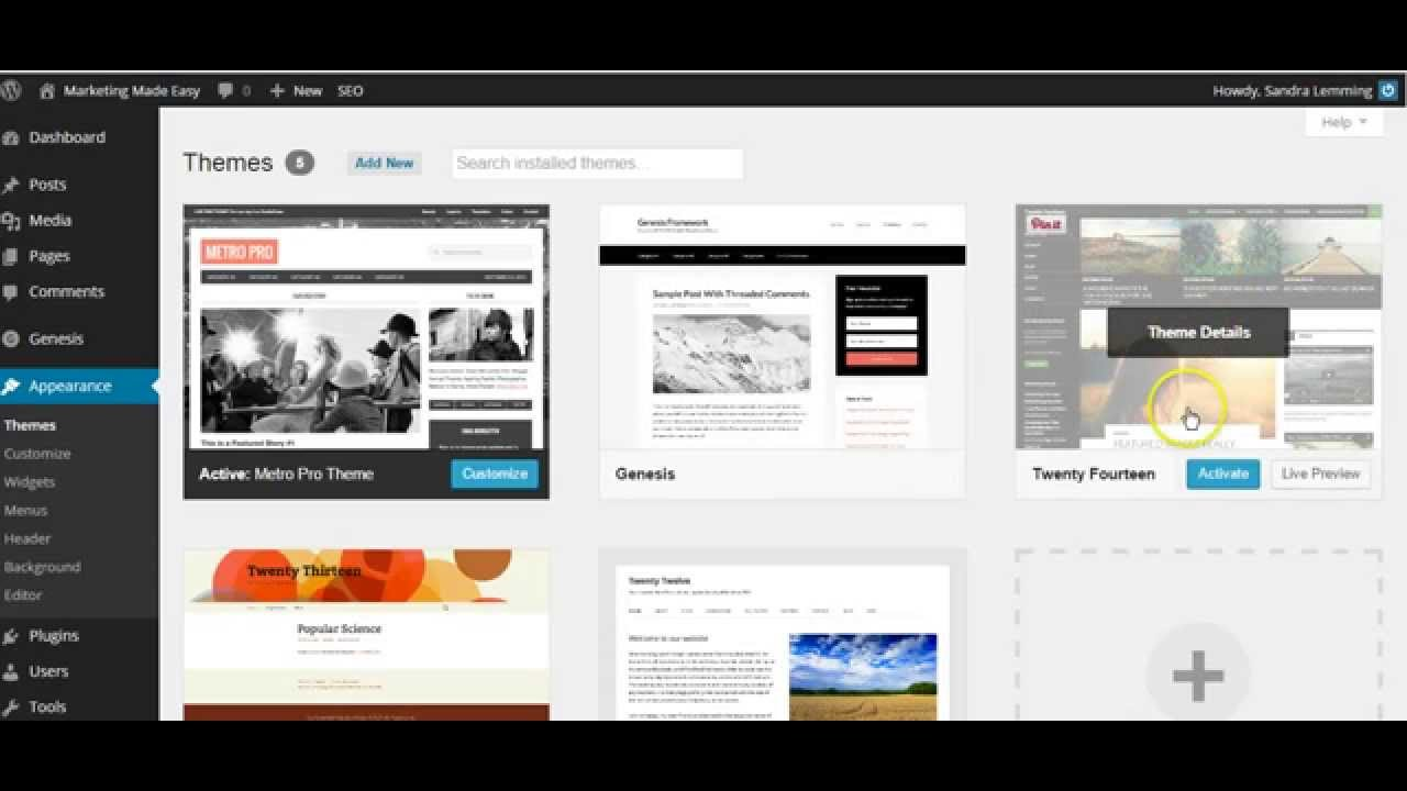 beginners guide to personalising wordpress metro pro theme youtube