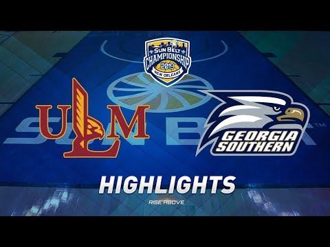 2019 Sun Belt Men's Basketball Championship Highlights: No. 7 ULM Vs. No. 3 Georgia Southern