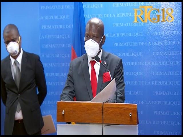 Joseph Jouthe premye minis ayisyen an mande solidarite tout popilasyon an pou fè fas ak Coronavirus.
