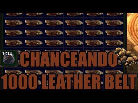Chanceando 1000 Leather Belt en busca del Headhunter
