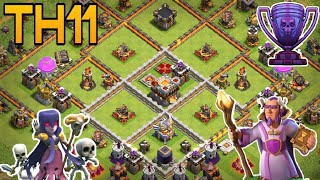 th11 trophy base 2018 /coc th11 trophy pushing base 2018/clash of clan