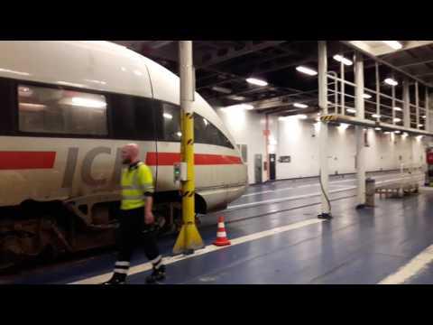 ICE train boarding Scandlines Rodby-Puttgarden ferry