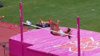 Katarina Johnson-Thompson 1.89 High Jump clearnace, London 2012 Olympics