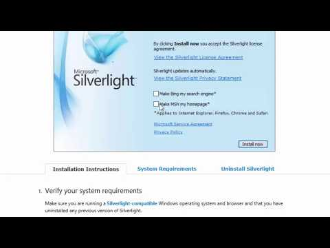 Silverlight  How to Install or Update