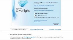 Silverlight - How to Install or Update