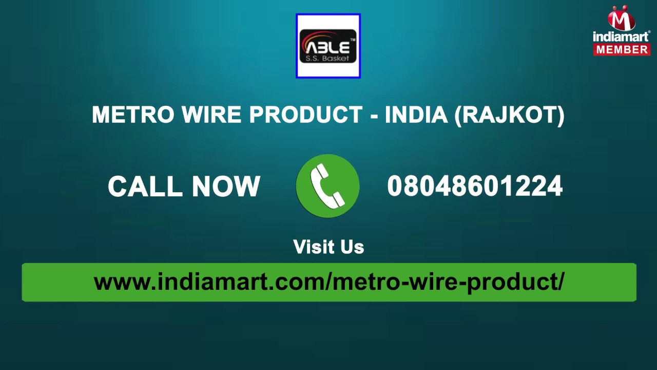 Kitchen Baskets by Metro Wire Product - India, Rajkot - YouTube