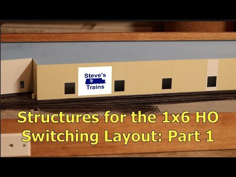 Tulsa Spur Part 8: Structures for the 1x6 HO Switching Layout