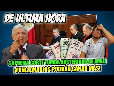 DE ULTIMA HORA ¡SUPREMA CORTE TUMBA AUSTERIDAD REPUBLICANA DE AMLO!