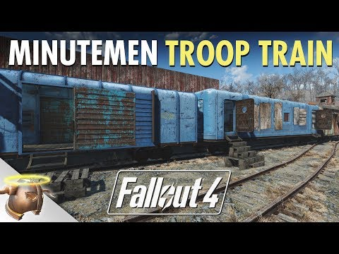 Fallout 4: Building a Minutemen Troop Train! | Bedford Station | Ep. 4
