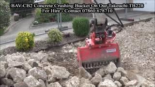 onboard bav cb2 concrete crushing bucket