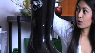 Rain coats, rain boots and umbrellas
