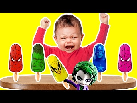 Thumbnail: Bad Baby Colors Learn Superheroes Ice Cream Finger Family Kids Songs