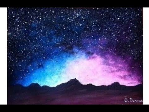 Painting Galaxy With Poster Color Beautiful Galaxy Poster Color Painting Tutorial