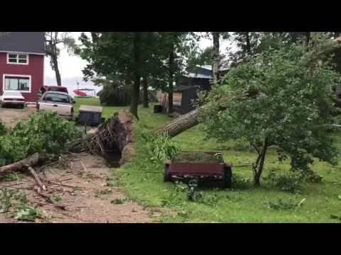 Storm damage Detroit Lakes Little Floyd 7-12-17