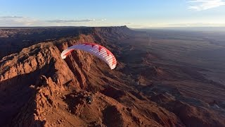 Paramotor Extreme Canyon Run Powered Paragliding!! Grand Adventure SUPER Style!!!