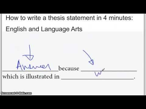 How to write a thesis statement in 4 minutes: Literature Examples