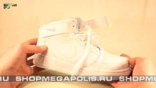 Обзор кроссовок Nike Air Force 1 высокие с мехом белые