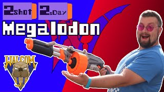 PUMP-ACTION NERF MEGALODON MOD!! Shotgunning RIVAL and DARTS!