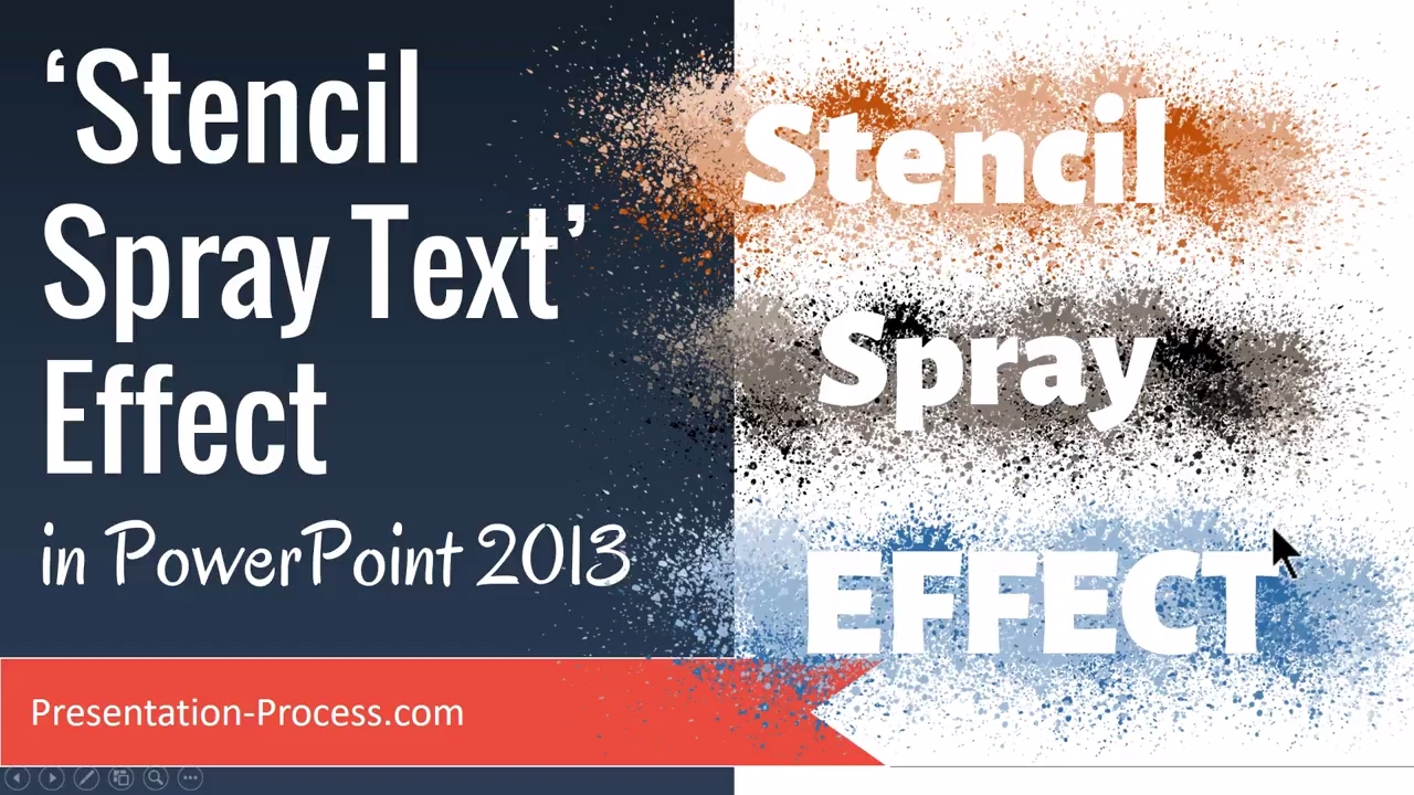 stencil spray text effect in powerpoint 2013 - youtube, Powerpoint templates