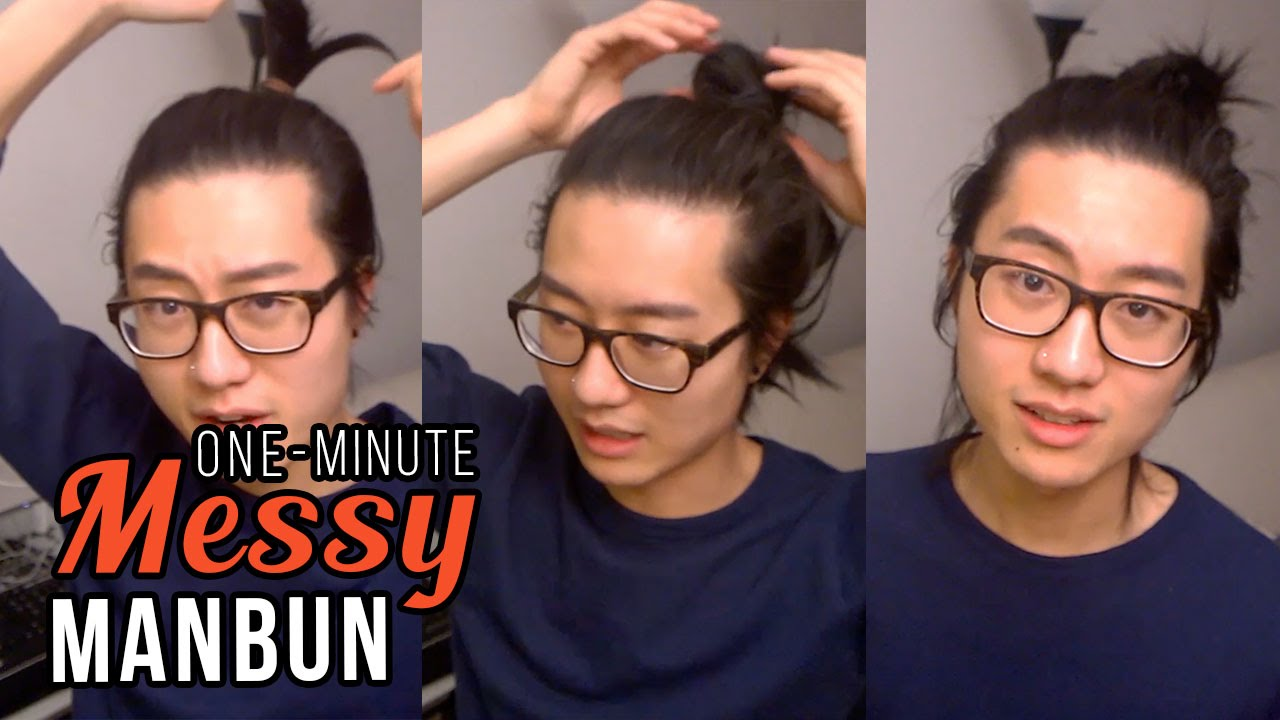 Quick Easy Messy Man Bun Tutorial Men S Hairstyle Youtube