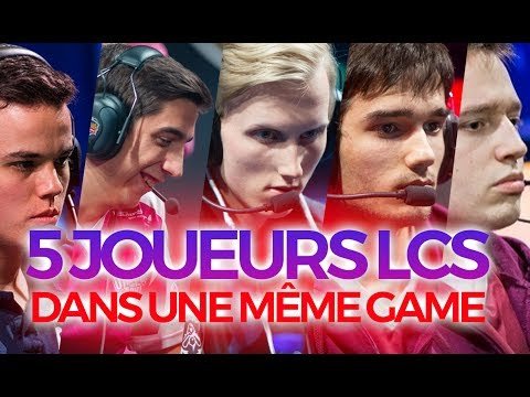 5 JOUEURS LCS DANS UNE MÊME GAME - Thresh Support Ranked Challenger
