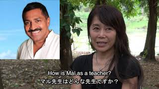 Jun from Japan explains in Japanese the benefits of Mal Weeraratne yoni massage and Tantric Massage